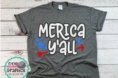 merica y'all svg,fourth of july svg,july fourth svg, merica Product Image 2