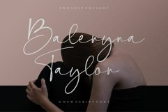 Baleryna taylor script font-signature font-Handwritten Product Image 1
