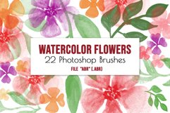 Flowers and leaves Photoshop Brushes Product Image 2