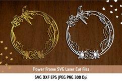 Floral Frame SVG| Flower border SVG| Flower Frame Cut Files Product Image 1