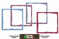 Patriotic July 4th Grunge Frames for Dye Sublimation Product Image 4