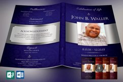 Dignity Funeral Program Template Bundle Publisher Word Product Image 1