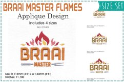 Braai BBQ Master Flamed Embroidery Download Design Product Image 1