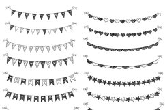 20 Scribble Bunting .PNG   Birthday Clipart Product Image 2
