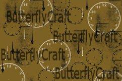 Vintage clocks digital paper, Old clocks paper Product Image 3