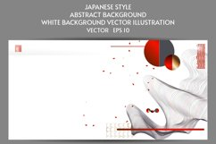 Abstract Japanese style white background with lines eps 10 Product Image 1