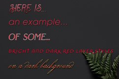20 Bright and Dark Red Layer Styles for Photoshop Product Image 3