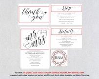 Wedding invitation set landscape, TOS_4 Product Image 5