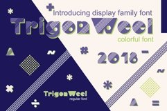 TrigonWeel color OTF font Product Image 1
