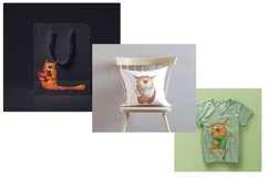 Set of watercolor cats Product Image 3