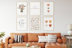 Set of 6 flower prints, Digital love posters, Birthday gift Product Image 3