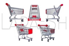 Set of metal grocery shopping baskets Product Image 1