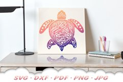 Mandala Sea Turtle SVG DXF Cut Files Bundle Product Image 5
