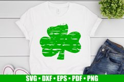 Distressed Shamrock SVG files for Cricut, Distressed Clover Product Image 2