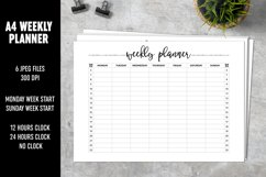 Weekly Planner A4 Brush Lettering Product Image 1