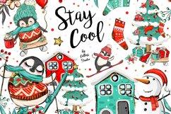 Winter Clipart, Cute Penguins, Winter Graphics, Let it Snow Product Image 1