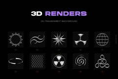 Chrome & vector abstract shapes bundle Product Image 4