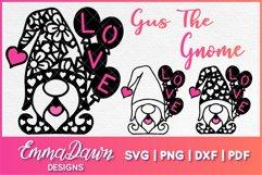 GUS THE GNOME SVG VALENTINES DAY MANDALA ZENTAGLE 3 DESIGNS Product Image 1