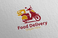 Scooter Fast Food Delivery Logo 7 Product Image 5