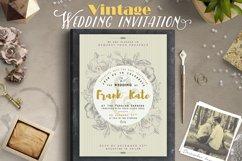 Vintage Wedding Invitation I Product Image 1