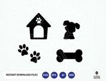 Dog SVG File. Dog Cut File. Dog Png. Dog Cricut. Dog Cameo File. Dog House, Bone, Paw Prints Svg. Dog Vector.  Product Image 1