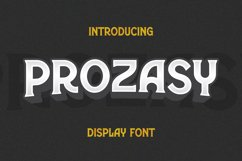 Prozasy Font Product Image 1