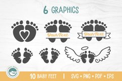 Baby Feet Bundle - A Baby Feet SVG Product Image 2