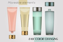 Vector realistic bottles set collection mockup pt.3 Product Image 5