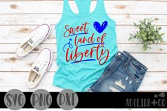 Sweet land of liberty, SVG, PNG, DXF, Product Image 1
