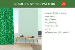 Seamless pattern with green leaves. Spring season Product Image 2