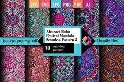 Abstract Boho Festival Mandala Seamless Pattern vol.5 Product Image 1