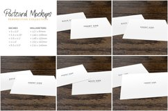 Postcard Mockup: Perspective View Product Image 3