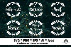 Christmas Ornaments Rounds Bundle SVG Product Image 1