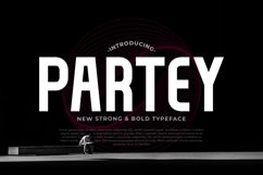 Partey Bold Display Typeface Product Image 1