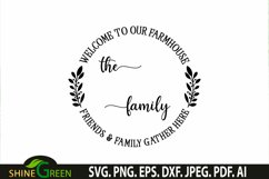 Farmhouse Monogram SVG Welcome Round Wood Sign SVG Product Image 2