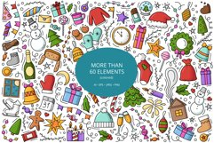 Doodle New Year Big set Vector Clipart Product Image 2