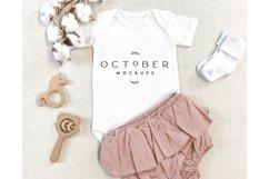 Mockup bundle JPG   Baby Girl Bodysuit White   Sublimate bla Product Image 3