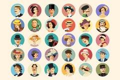 Avatars Retro people vector cartoon Product Image 2