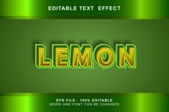 lemon Text Effects editable words and fonts can be replac Product Image 1
