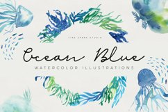 Ocean Life Watercolor Illustrations Product Image 1