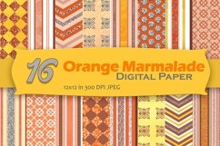 Orange Marmalade Digital Paper Pack Product Image 1