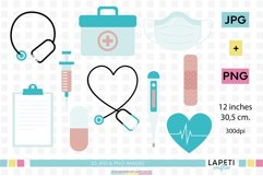 Medical clipart, quarantine clipart, nurse illustrations Product Image 1