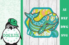 Whale SVG layered multi layer mandala sea animal nautical Product Image 2