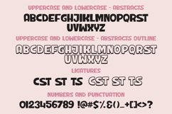 Abstracts - a chunky handwritten font   Two styles Product Image 3