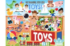 Toys Clipart - Lime and Kiwi Designs Product Image 1