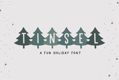 Web Font Tinsel - A Fun Holiday Font Product Image 1