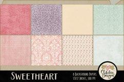 Shabby Damask Sweetheart Background Textures Product Image 3