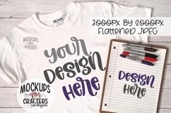 Adult T-Shirt & Clipboard DUO, Home school, Teacher MOCK-UP Product Image 1