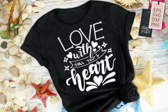 Love With All Your Heart Motivational Quotes Product Image 1