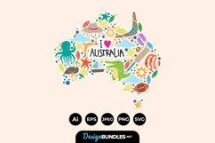 Australian Map Clipart Product Image 1